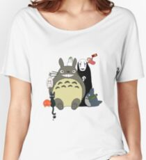 Studio Ghibli: Totoro, Jiji, Calcifer, Forest Spirit, Ponyo, Rat, Fly, Soot Sprite (customisable) Women's Relaxed Fit T-Shirt