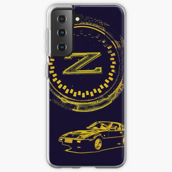 Z Badge and 300ZX Z31 - Gold Samsung Galaxy Soft Case