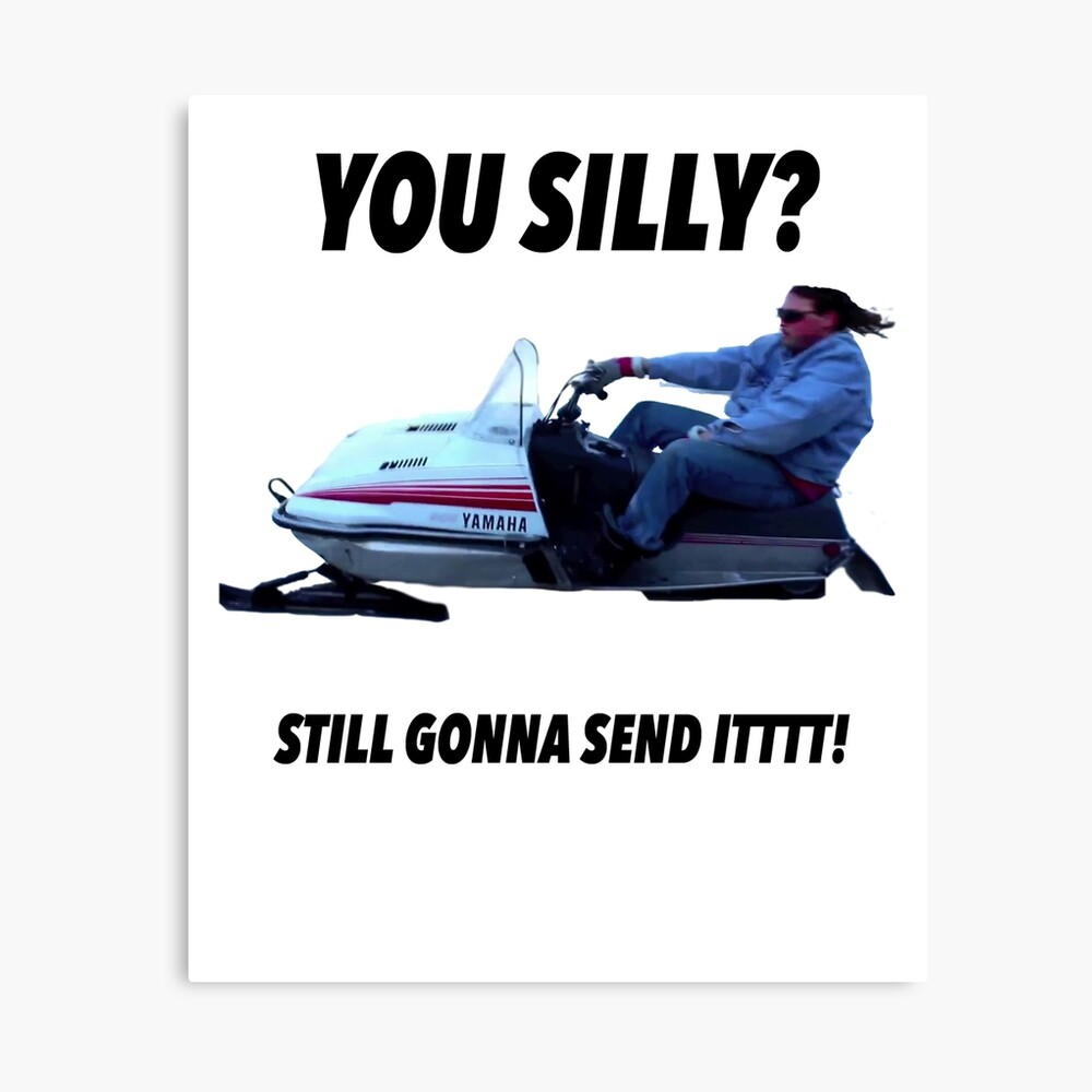 You silly still gonna send it funny meme shirt Canvas Print