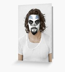 Jason Momoa Day of the Dead Dia de los Muertos Makeup Greeting Card