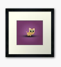 A cute baby cat Framed Print