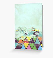 Triangle Mountain Greeting Card