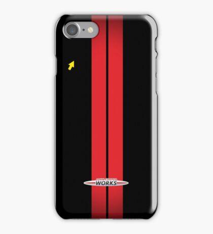 Mini Cooper Stripes JCW - Black & Red iPhone Case/Skin