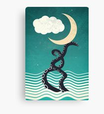 The octopus and the sea II (a lullaby) Canvas Print