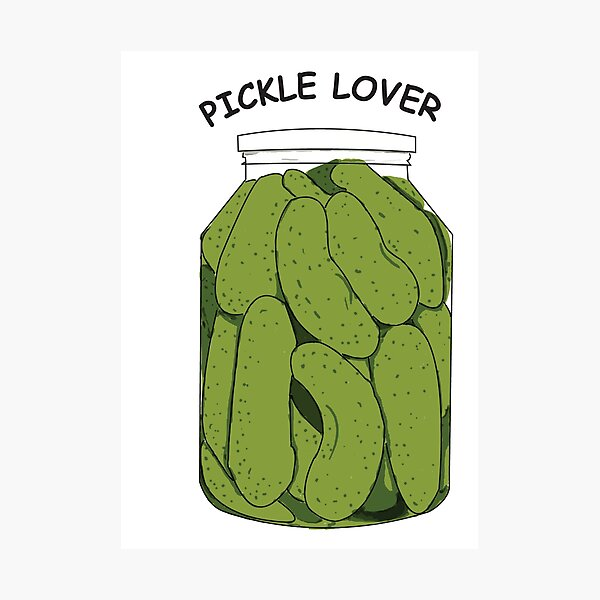 Pickle Lover Photographic Print