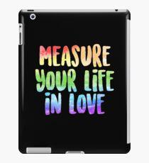 Messen Sie Ihr Leben in der Liebe | Miete iPad-Hülle & Klebefolie