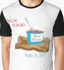 Man Food, beans on toast by tony fernandes Graphic T-Shirt