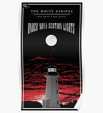 The White Stripes - Under Nova-Scotian Lights Tall White Border Poster