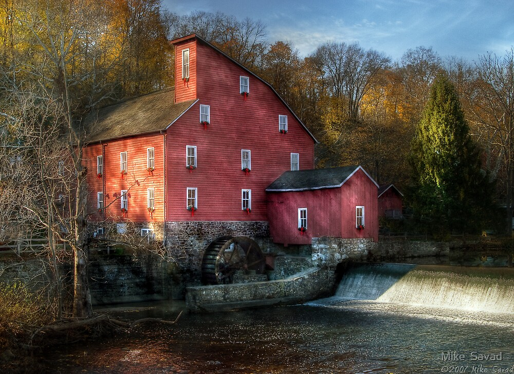 The old mill in Clinton, NJ by Mike  Savad