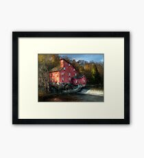 The old mill in Clinton, NJ Framed Print