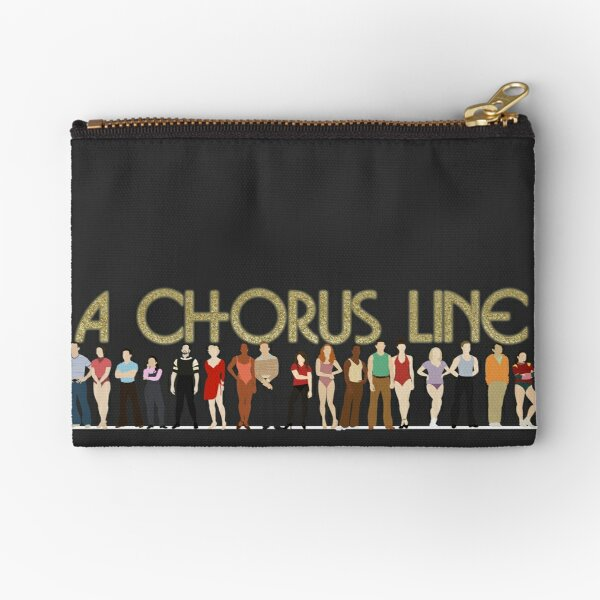 A Chorus Line Zipper Pouch