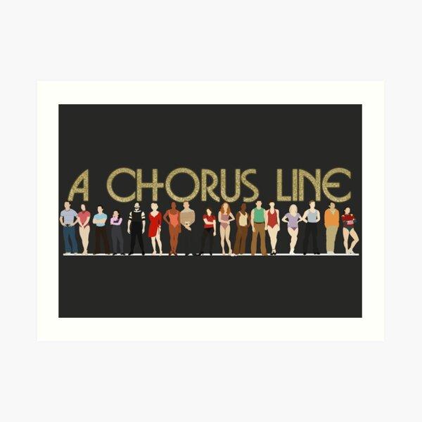A Chorus Line Art Print