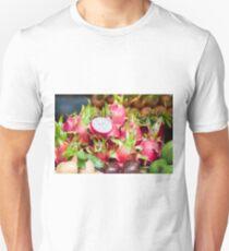 Pitaya fruit on vegetable market Unisex T-Shirt