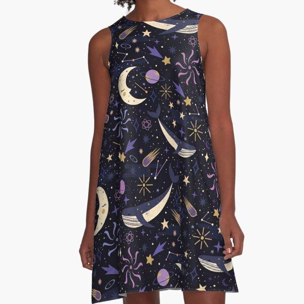 Sea Space  A-Line Dress