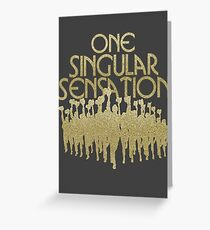 One Singular Sensation | A Chorus Line Greeting Card