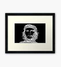 Che Guevara White | icons Framed Print