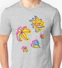 Vivid Summer with Colorful Tropical Flowers  T-Shirt