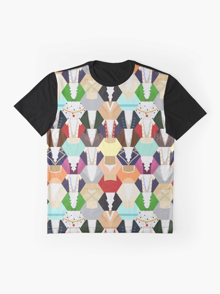 Vista alternativa de Camiseta gráfica Costume Patchwork | Hamtilton