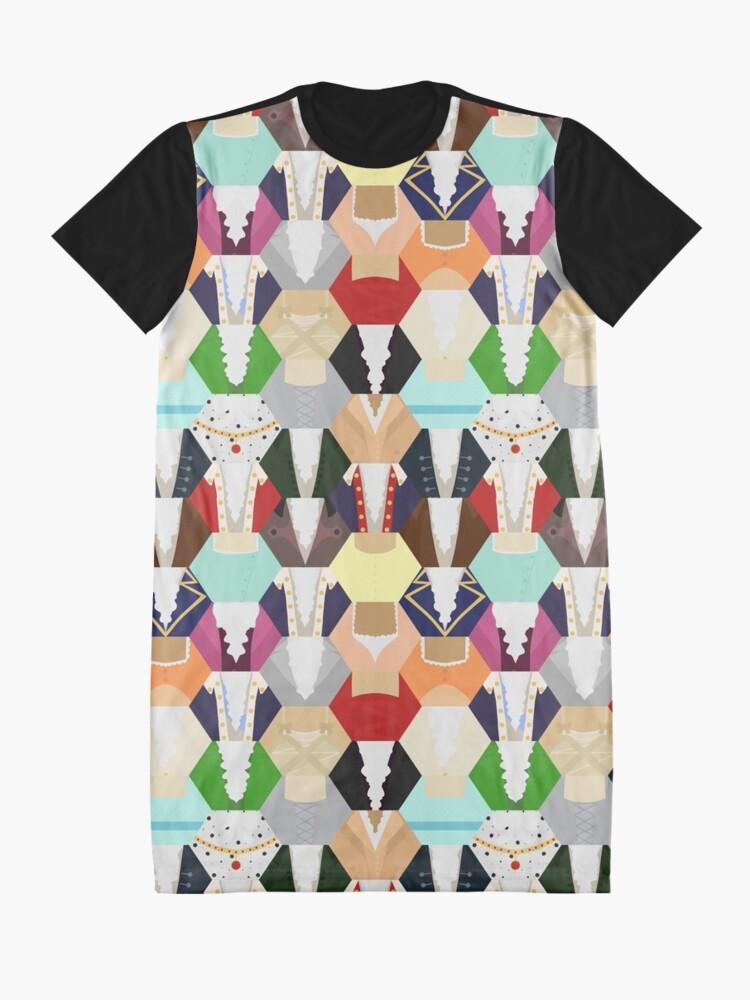 Vista alternativa de Vestido camiseta Costume Patchwork   Hamtilton