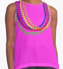 Mardi Gras Carnival Rainbow Necklace beads Contrast Tank