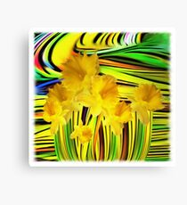 Daffodils Gone Wild Canvas Print