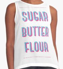 Zucker Buttermehl | Kellnerin Ärmelloses Top