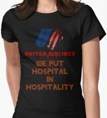 UNITED AIRLINES HOSPITALITY Womens Fitted T-Shirt