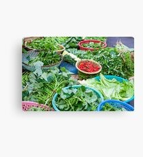 Vegetable market in Hoi An Canvas Print