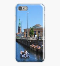 Copenhagen by Boat on a sunny summer Day, DENMARK iPhone Case/Skin