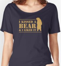 I Kissed A Bear And I Liked It Cool Graphic Women's Relaxed Fit T-Shirt