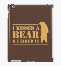 I Kissed A Bear And I Liked It Cool Graphic iPad Case/Skin