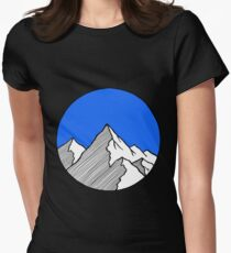 Mountains Sketch Womens Fitted T-Shirt