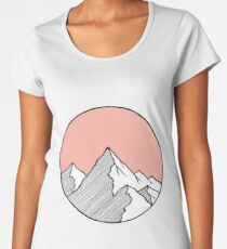 Mountains Sketch Women's Premium T-Shirt