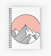 Mountains Sketch Spiral Notebook