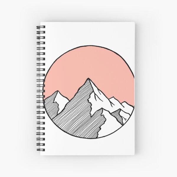 Mountains Sketch Spiral Notebook