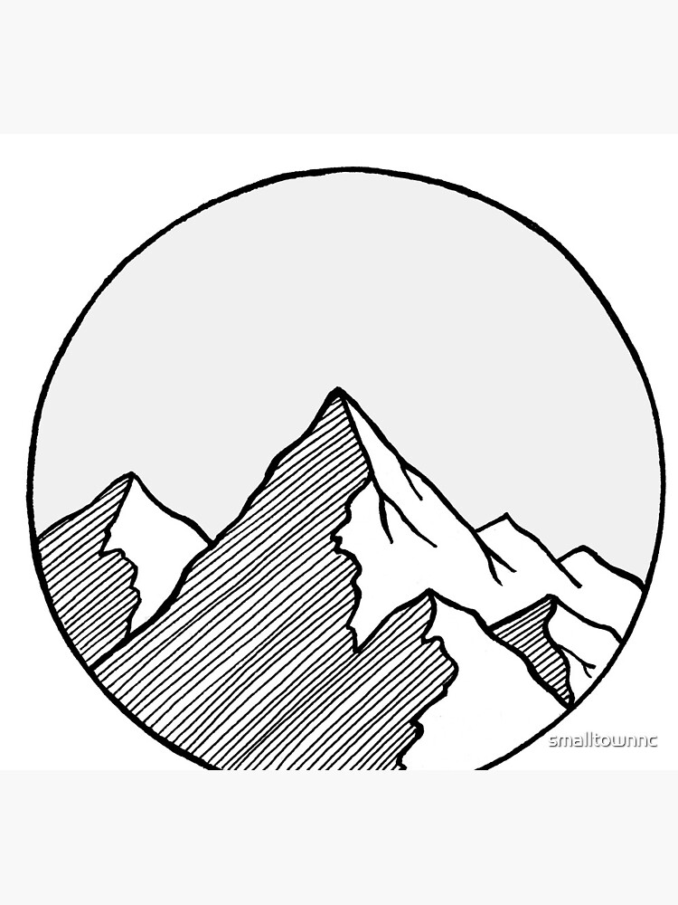 Mountains Sketch by smalltownnc