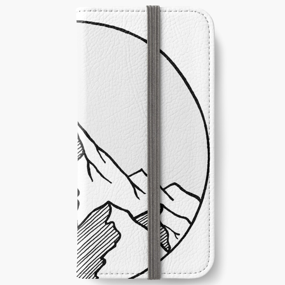 Mountains Sketch iPhone Wallet