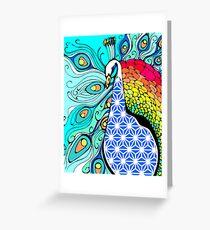 Gypsy Peacock  Greeting Card