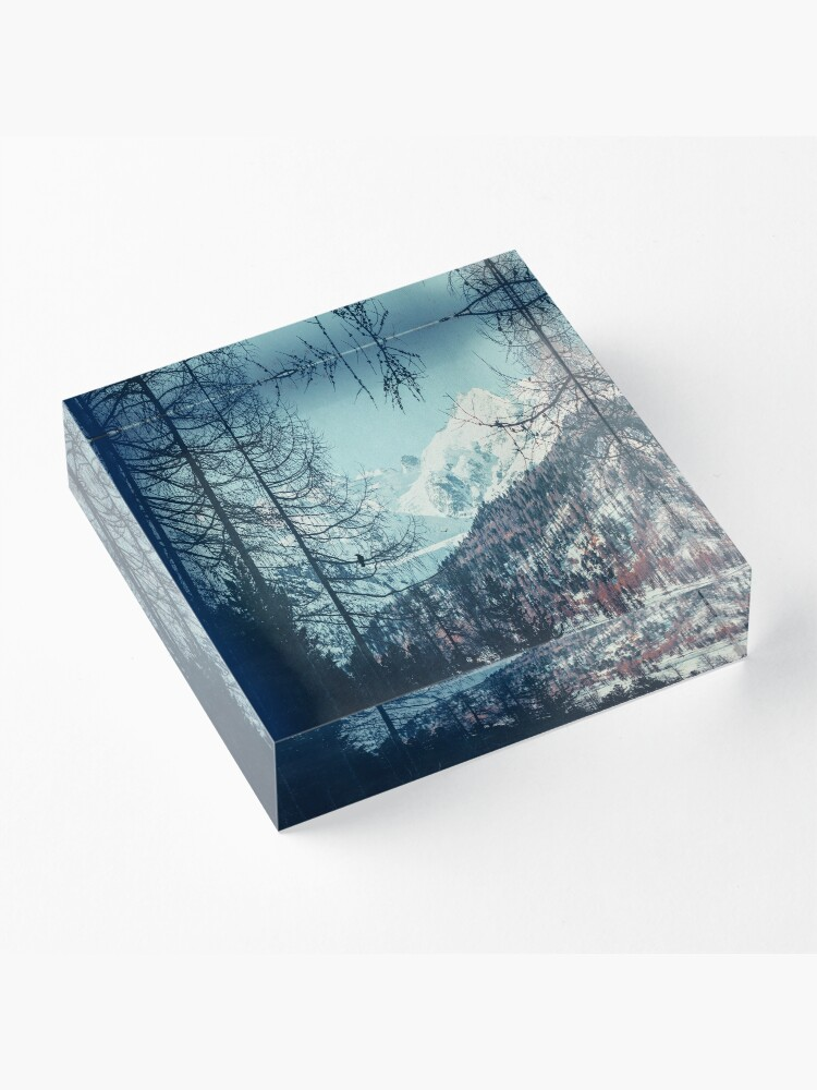 Alternate view of Please Come Back Acrylic Block