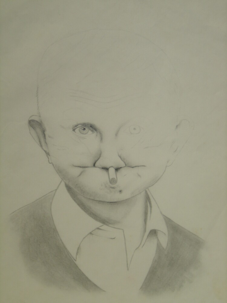 Funny man - unfinished to add character by MissTazzitude