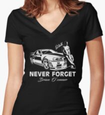 Fast 8 - Never Forget Paul Walker Women's Fitted V-Neck T-Shirt
