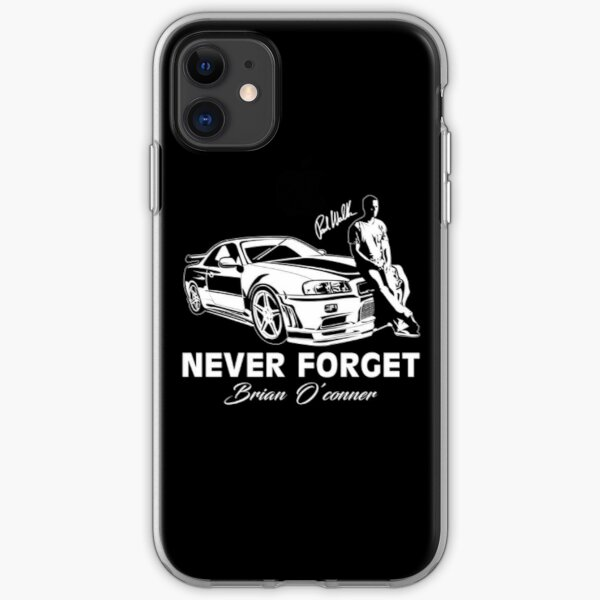 Fast 8 - Never Forget Paul Walker iPhone Soft Case
