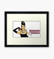 Breakfast at tiffany's | Audrey Hepburn Framed Print