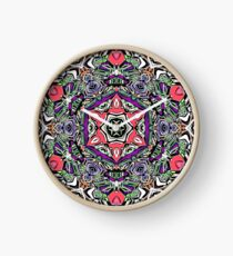 Colorful Kaleidoscope Abstract Clock