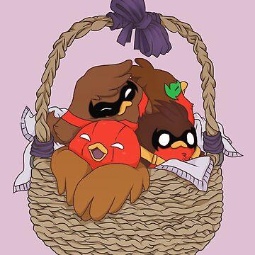 Go!Robins! - A Basket of Robins by yolinart