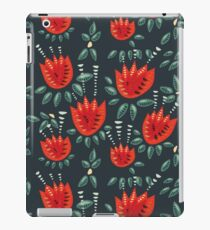 Beautiful Red Abstract Tulip Pattern iPad Case/Skin