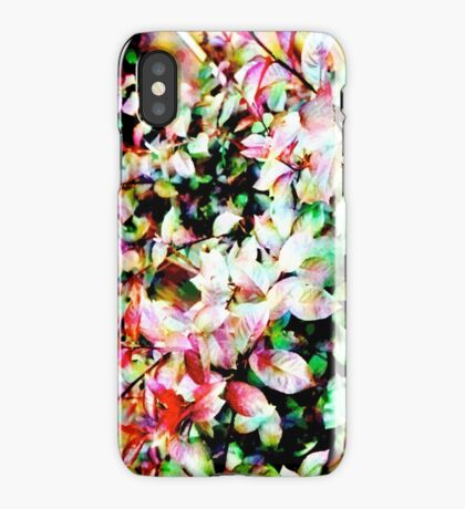 COLOURFUL LEAVES iPhone Case