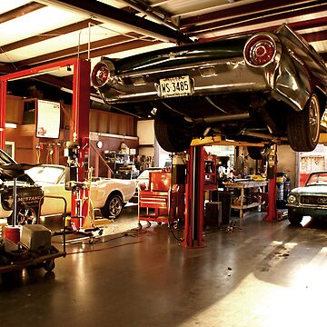 in the mustang shop by birus