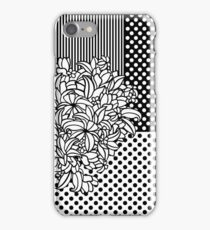 Bouquet Patchwork with dots and stripes (black and white) iPhone Case/Skin