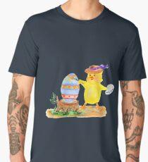 Chicken painter and easter egg Men's Premium T-Shirt